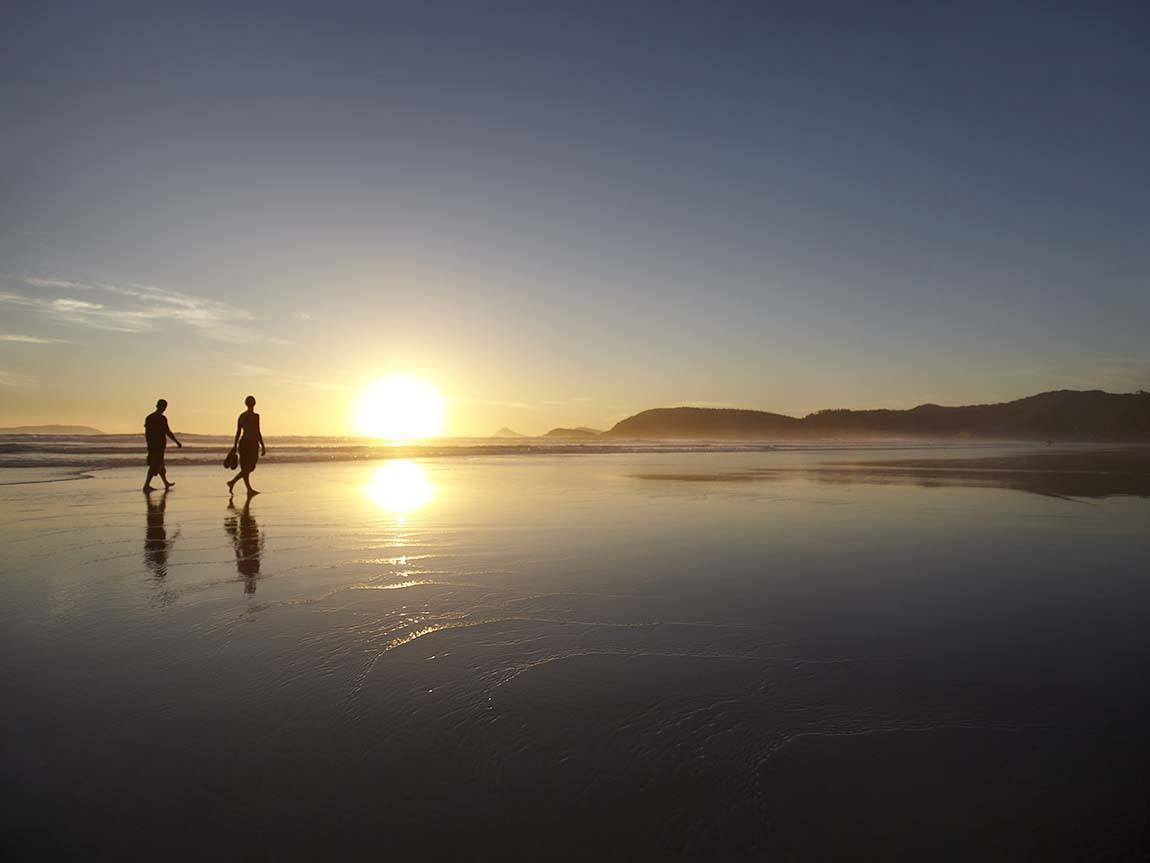 Squeaky Beach at sunset, Wilsons Promontory, Gippsland, Victoria, Australia