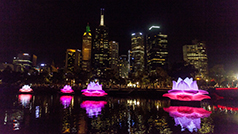 Yarra river White Night